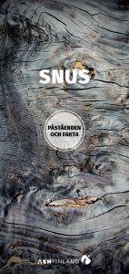 Snus - påståenden och fakta -broschyr